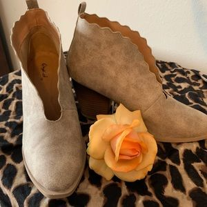 Suede Taupe Boots